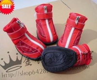 Free shipping new 2014 dog shoes  Zipper non-slip shoes   wear-resistant hot-selling pet products