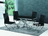 Modern metal dinning  table & 4chairs T-188