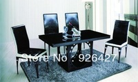 Modern metal dinning  table & 4chairs T-171