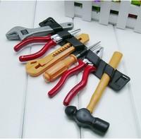 (6Pcs/lot)HOT SELLING!! 2014 Child toy plastic toiletry kit screwdriver hammer tongers  FF2509