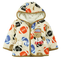 Free Shipping Children's padded winter coat male baby clothing cotton baby coral velvet jacket fall and winter clothes cartoon