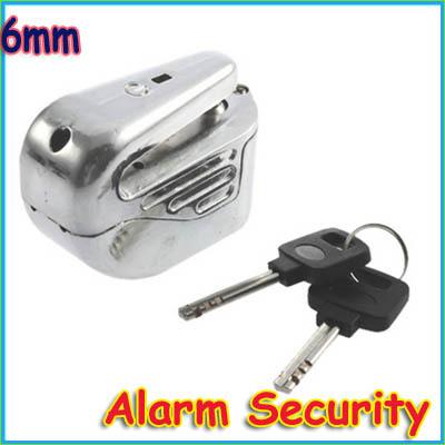 NEW 6mm steel Motorbike Motorcycle Brake Disc Safety Lock Alarm Security(China (Mainland))