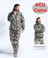 Hot Wholesale 40Pcs ACU Men Hunting Camping Waterproof Coats Jacket Hoodie