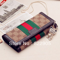 Fashion vintage genuine leather female long design wallet new clutch bag casual card holder famous brand European American sytle