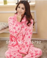 Promotation flannel pajamas for women high quality with cheap price