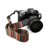 Digital Camera SLR DSLR Neck Shoulder Color Stripes Strap Belt Vintage