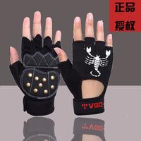 A 2 strengthen roller gloves semi-finger gloves sports gloves professional roller armfuls flanchard roller
