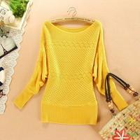 New 2013 autumn-summer 100% cotton slim pullover o-neck long-sleeve sweater women women's sweater