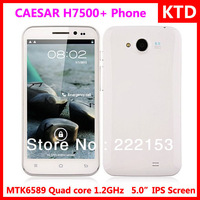 In stock original yingpai CAESAR H7500+ MTK6589 quad core 1.2GHz smart phone android4.1 1gb ram 4gb rom 8MP camera freeshipping