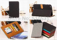 Hot Matte PU Leather Wallet Cover Case for Samsung Galaxy Tab 3 8.0 T310 T311 P8200,retail and wholesale, free shipping