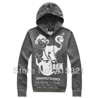Free Shipping new 2013 Men's Hoodies,fashion cattoon printed Hoody jacket for men,popular warm sport Mens Hoodies hotsell BLWHSA