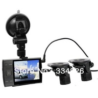 Free shipping S3000A separated dual lens 3.5 inch LCD screen 2CH G-sensor high quality car dvr