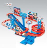 2014 New Trem free Shipping Diy Assemble Thomas Rail Train Multiple 3 Layer Electric Toy Extra Large Rotary Orbital Slot Track