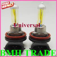 Crazy Item&Universal H11 12V 55W Golden Yellow Fog Light Bulbs 3000K 2 Pcs Halogen Xenon,Wholesale Fast Freeshipping