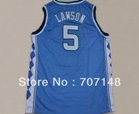 Cheap-Mix Order North Carolina Tar Heels #5 Ty Lawson White Blue College Basketball Jersey
