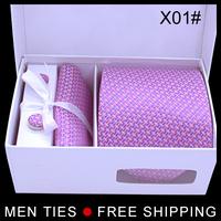 2014 Hot Sale Silk ties for man Men's Ties Necktie Plaid Stripe Brand Mans Tie Neckties with retail package