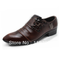 FREE SHIPPING! Korean version of the British fashion stylist brown wedding shoes SIZE US 6.5-9.5