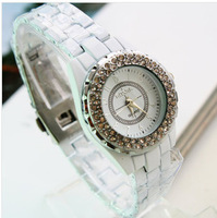 2013 new women rhinestone watch full steel strap casual relogio clock femenino business brand watch syb00029