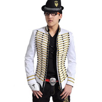 Double breasted suit white suit costume male w-912-147 fashion royal suit