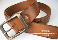 genuine leather strap belts first layer cowskin woven cowhide strap cool novel personality belts