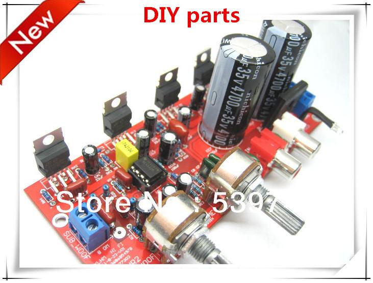2 set/lote 2.1 hifi peças DIY TDA2030A + NE5532 pré amplificador três canais placa amplificador subwoofer kit(China (Mainland))