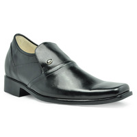 Men Elevator Shoes -3025 New handmade good quality business elevator men shoes 7CM - 2.75 Inches taller