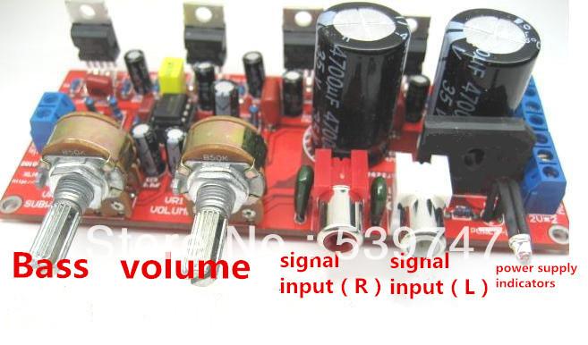 2.1 hifi TDA2030A + NE5532 pré amplificador três canais placa amplificador subwoofer kit(China (Mainland))