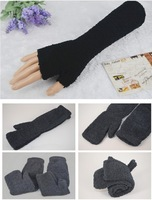 Retail Womens Long Sleeve Fashion Cute Stretch Half Fingers Gloves Winter Warm Gloves For Women Luvas For Women
