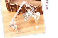 For Millet 2 2s m2 Echinochloa Frumentacea 2s Dog Wood Tassel Rhinestone Phone Case Protective Transparent Cover