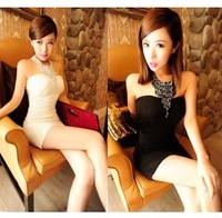 Dress 2013 spring women's clothes skirt sexy halter-neck dress tube top dress one-piece dress /Free shipping