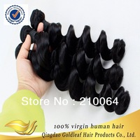 Queen Hair Products Virgin Malaysian Hair Loose Wave Grade 5A unprocessed hair Free Shipping