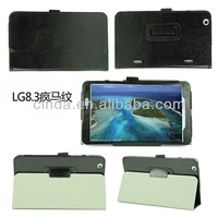 Crazy Horse PU Leather Stand Case For LG G PAD 8.3 V500