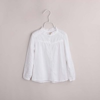 female child autumn shirt simple girl blouses / shirts