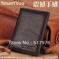 Free shipping geniuine leather men wallet cowhide wallet men's soft leather short wallet carteira de couro cartera de cuero gift