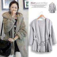 Fashion  winter thickening all-match overcoat outerwear medium-long thermal thickening female with a hood
