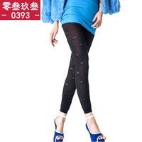 Meat legging trousers female women's plus velvet thickening jacquard legging autumn and winter