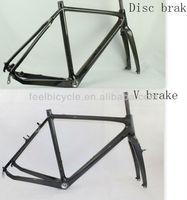 Di2 disc carbon cyclocross frame mc098,Full Carbon cyclocross bike frame mc098 ,Disc Brake or V brake Cyclocross Frame.