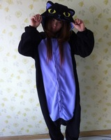 New Adult Animal Onesie The Midnight Cat Kigurumi Cosplay Costume Pajamas