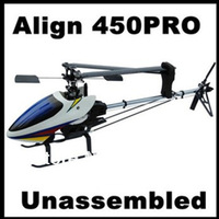 Align Topspeed 450Pro RC Helicopter Kit with Canopy, with glass fiber Blades, Shaft drive system Unassemble