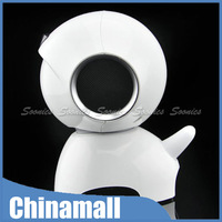 New Arrival Cartoon White Space Dog Stereo Speaker Gift Toy For iPhone 4S 5S iPod PC Tablet Free Shipping & Drop Shipping