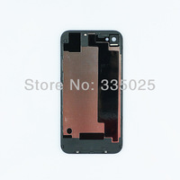 1pcs free shipping glass back cover with metal bezel frame for iphone 4G CDMA original cover;