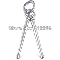 free shipping 10pcs a lot  rhodium plated play drum stick charms  jewelry accessory(H104233)