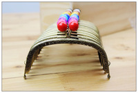 Free shipping 24 pcs 12.5 cm Metal purse frame, DIY Accessories for Bag Sewing Craft Tailor Sewer