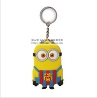 Free shipping Spain Despicable Me Keychain Movie Anime Minions Figure Pendants Free Shipping