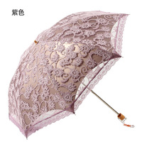 Structurein princess umbrella folding umbrellas anti-uv black lace mushroom umbrella sun umbrella