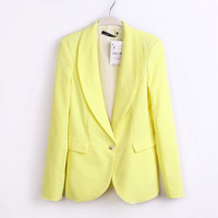 Spring and Autumn Light Color Department of  Fashion Long-sleeve Slim Thin  Blazer Suit Female Women's Clothing TBXD-67