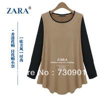 Fashion women's Big Brand Shop Products  loose plus size t-shirt all-match basic shirt autumn and winter female basci shirt