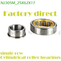 25mm diameter single row cylindrical roller bearings NJ305M 25mmX62mmX17mm C0 Brass cage ABEC-1 Motors,Machine tool,Rolling mill