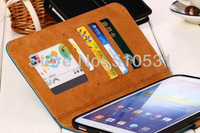 Popular Matte PU Leather Wallet book smart pouch Case for Samsung Galaxy Tab 3 8.0 T310 T311 P8200, free shipping,10pcs/lot