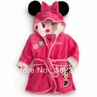 2013 kids Barth robes Minnie Mouse coral fleece pajamas warm robes sleepwear robes children's bathrobe kids free shipping
